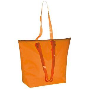 Strandtasche aus Polyester mit transparenten Henkeln als Werbeartikel mit Logo im PRESIT Online-Shop bedrucken lassen