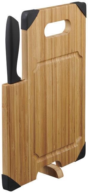 Avery Bambus-Schneidebrett mit Messer im PRESIT Werbeartikel Online-Shop