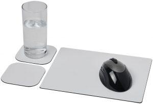 Brite-Mat® Mousepad- und Untersetzer-Set 3 im PRESIT Werbeartikel Online-Shop