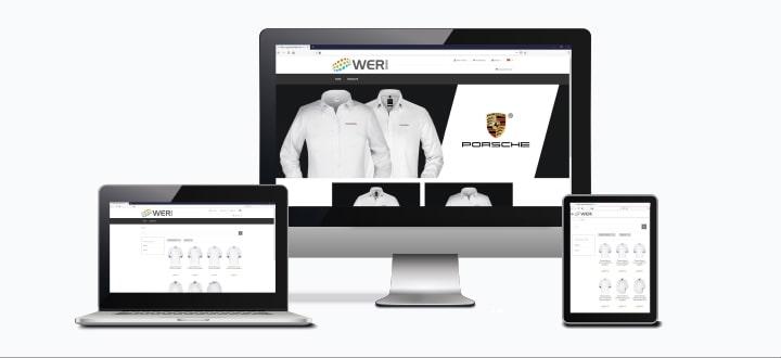 Porsche Werbeartikel Online-Shop mit Textilien ab 1 Stück bedrucken lassen.