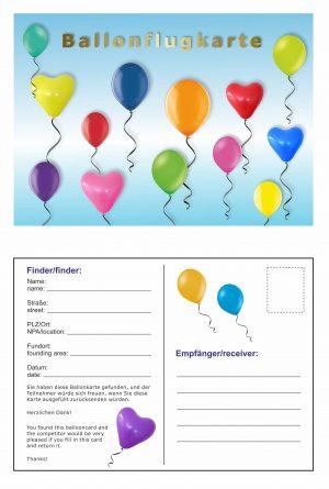 Ballonflugkarte bedrucken lassen
