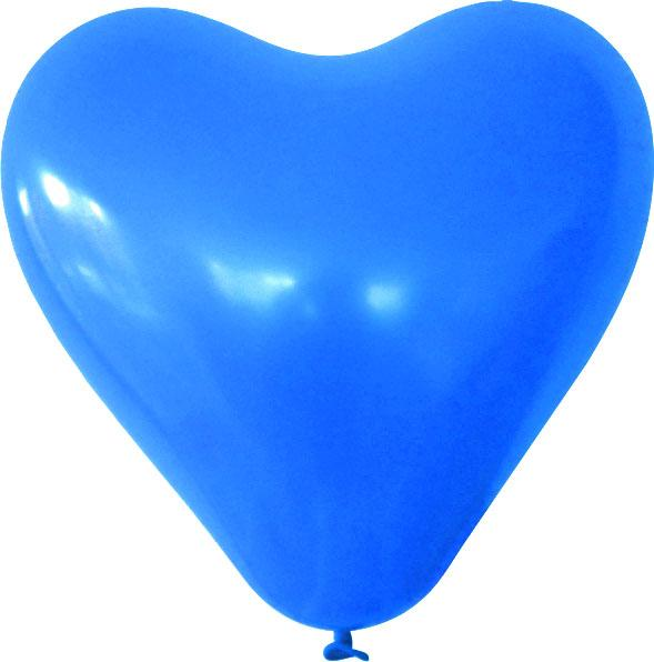 Herzballon blau mit logo bedrucken lassen