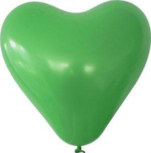 Herzballon dunkelgruen mit logo bedrucken lassen