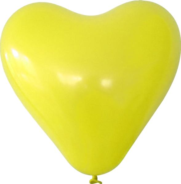 Herzballon gelb mit logo bedrucken lassen