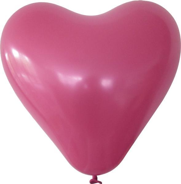 Herzballon magenta mit logo bedrucken lassen
