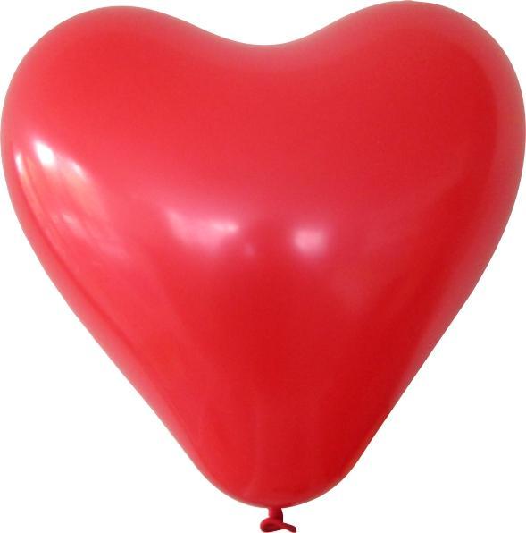 Herzballon rot mit logo bedrucken lassen