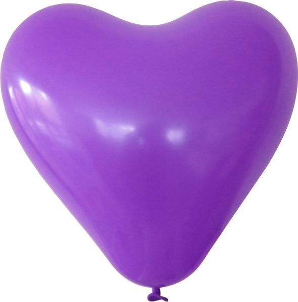 Herzballon violett mit logo bedrucken lassen