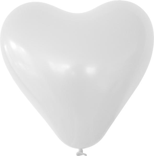 Herzballon weiss mit logo bedrucken lassen