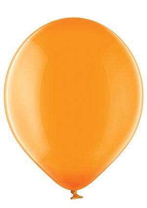 Ballon orange kristall mit logo bedrucken lassen