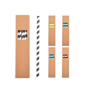 Papierstrohhalm-Set – Werbeartikel