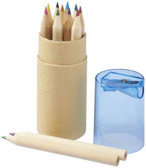 Hef 12-teiliges Buntstiftset mit Anspitzer im PRESIT Werbeartikel Online-Shop