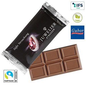 MAXI-Schokoladen-Täfelchen als Werbeartikel mit Logo im PRESIT Online-Shop bedrucken lassen