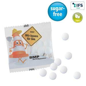 Stevia*-Pfefferminz als Werbeartikel mit Logo im PRESIT Online-Shop bedrucken lassen