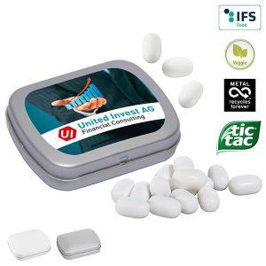 MINI-Klappdose mit tic tac als Werbeartikel mit Logo im PRESIT Online-Shop bedrucken lassen
