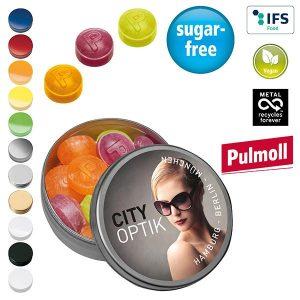XS-Taschendose mit Pulmoll Pastillen als Werbeartikel mit Logo im PRESIT Online-Shop bedrucken lassen