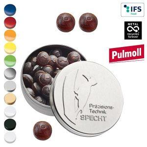 XS-Prägedose mit Pulmoll Original Pastillen als Werbeartikel mit Logo im PRESIT Online-Shop bedrucken lassen