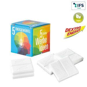 Mini Promo-Würfel mit Dextro Energy als Werbeartikel mit Logo im PRESIT Online-Shop bedrucken lassen