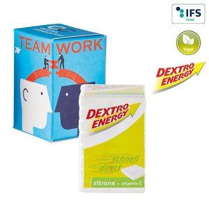 Mini Promo-Tower mit Dextro Energy als Werbeartikel mit Logo im PRESIT Online-Shop bedrucken lassen