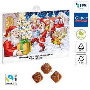 Classic Schoko-Adventskalender BASIC als Werbeartikel mit Logo im PRESIT Online-Shop bedrucken lassen