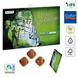 Classic Schoko-Wand-/Tisch-Adventskalender BUSINESS als Werbeartikel mit Logo im PRESIT Online-Shop bedrucken lassen