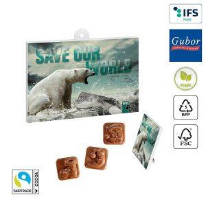 A5-Schoko-Adventskalender BUSINESS als Werbeartikel mit Logo im PRESIT Online-Shop bedrucken lassen
