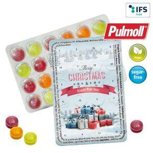 Kleinster (Advents-)Kalender der Welt Standardmotive mit Pulmoll als Werbeartikel mit Logo im PRESIT Online-Shop bedrucken lassen