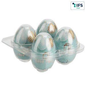 4er Eier-Box ohne Werbebanderole als Werbeartikel mit Logo im PRESIT Online-Shop bedrucken lassen