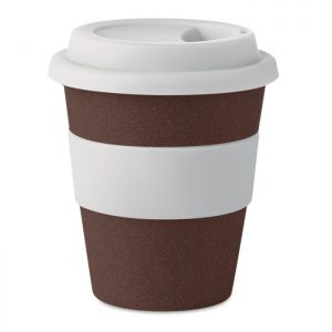 Becher aus Kaffeehülsen 350ml BRAZIL WHITE - Becher