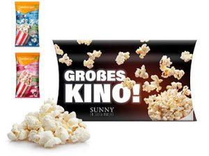 Seeberger Mikrowollen-Popcorn süss ohne Palmöl in Werbekartonage als Werbeartikel mit Logo im PRESIT Online-Shop bedrucken lassen