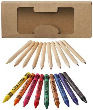 Lucky 19-teiliges Waxmal- und Buntstifte Set im PRESIT Werbeartikel Online-Shop