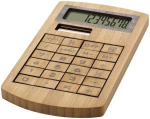 Eugene Bambus Taschenrechner im PRESIT Werbeartikel Online-Shop
