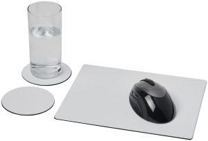 Brite-Mat® Mousepad- und Untersetzer-Set 2 im PRESIT Werbeartikel Online-Shop