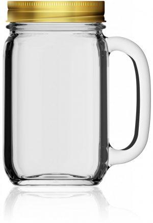 Drinking Jar Country 48 cl mit Deckel als Werbeartikel mit Logo im PRESIT Online-Shop bedrucken lassen