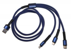 3 in 1 Cable Flex - blau