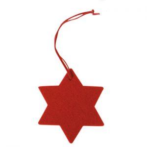 Filzanhänger Stern als Werbeartikel mit Logo im PRESIT Online-Shop bedrucken lassen