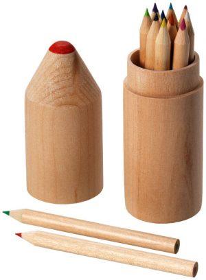 Woody 12-teiliges Buntstiftset im PRESIT Werbeartikel Online-Shop