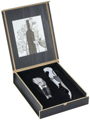 Belgio 2-teiliges Weinöffner-Set mit Ausgießer im PRESIT Werbeartikel Online-Shop