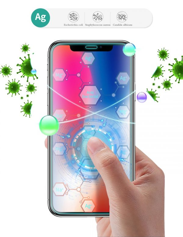 Antibakterielles Displayschutzglas für Smartphones und Tablets als Werbeartikel