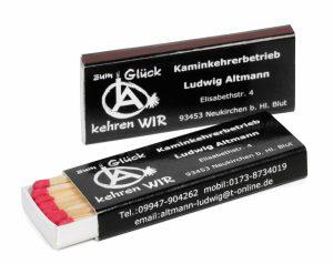 Zündholzschachtel BX1 als Werbeartikel mit Logo im PRESIT Online-Shop bedrucken lassen