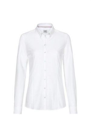 HAKRO Bluse Natural Stretch (No. 129) als Werbeartikel mit Logo im PRESIT Online-Shop bedrucken lassen