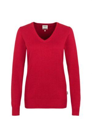 HAKRO Damen V-Pullover Premium-Cotton (No. 133) als Werbeartikel mit Logo im PRESIT Online-Shop bedrucken lassen