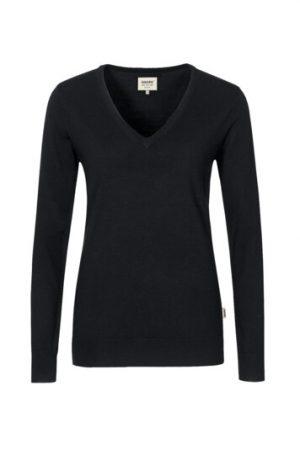 HAKRO Damen V-Pullover Merino-Wool (No. 134) als Werbeartikel mit Logo im PRESIT Online-Shop bedrucken lassen