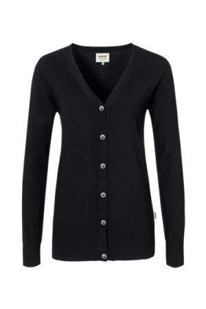 HAKRO Damen Cardigan Merino-Wool (No. 140) als Werbeartikel mit Logo im PRESIT Online-Shop bedrucken lassen