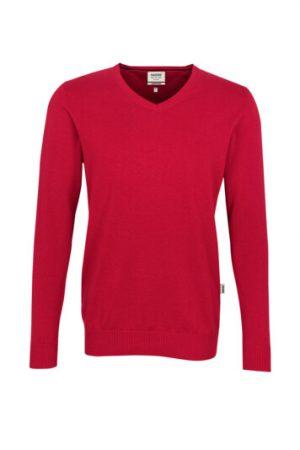 HAKRO V-Pullover Premium-Cotton (No. 143) als Werbeartikel mit Logo im PRESIT Online-Shop bedrucken lassen