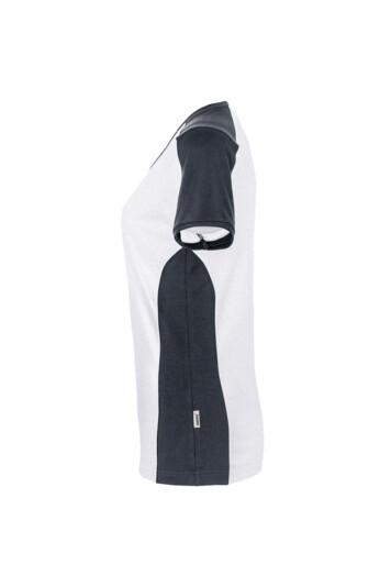 Detailansicht 1 – HAKRO Damen V-Shirt Contrast Mikralinar® (No. 190)