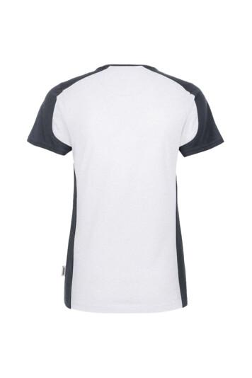 Detailansicht 2 – HAKRO Damen V-Shirt Contrast Mikralinar® (No. 190)