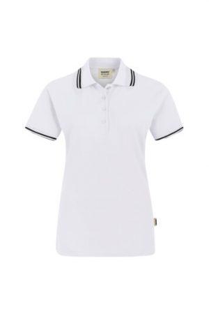 HAKRO Damen Poloshirt Twin-Stripe (No. 205) als Werbeartikel mit Logo im PRESIT Online-Shop bedrucken lassen