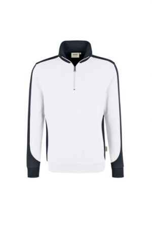 HAKRO Zip-Sweatshirt Contrast Mikralinar® (No. 476) als Werbeartikel mit Logo im PRESIT Online-Shop bedrucken lassen