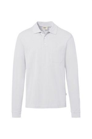HAKRO Longsleeve-Pocket-Poloshirt Top (No. 809) als Werbeartikel mit Logo im PRESIT Online-Shop bedrucken lassen