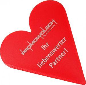 Eiskratzer in Herzform SYMPATHIE als Werbeartikel mit Logo im PRESIT Online-Shop bedrucken lassen
